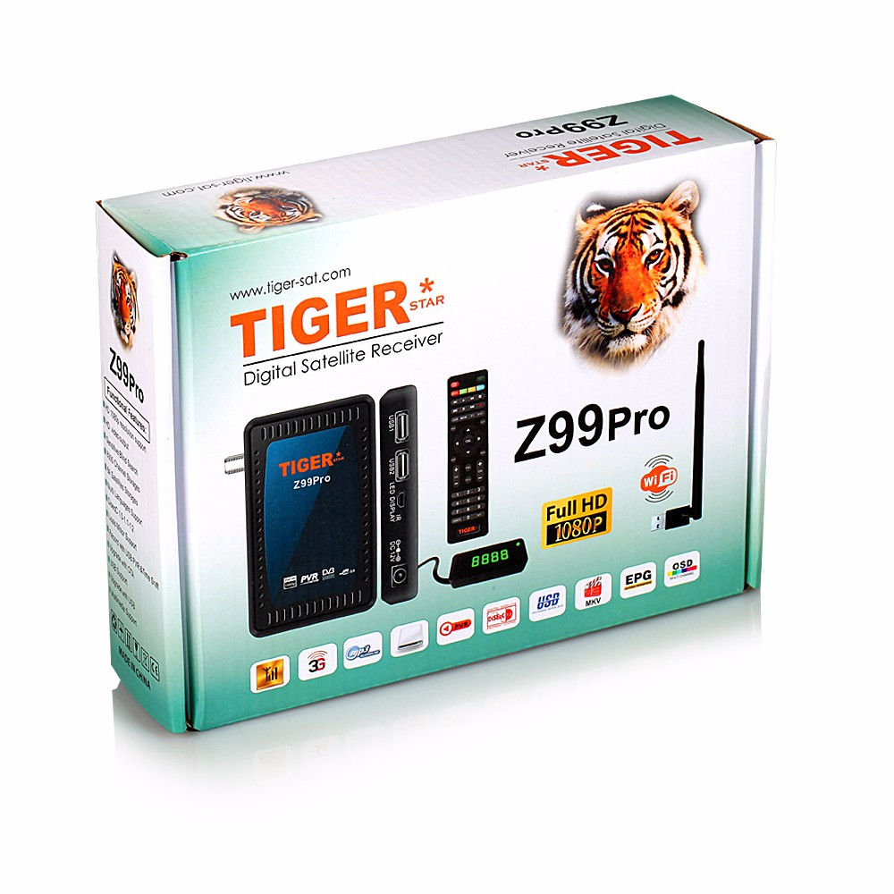 Mini HD Tiger Z99pro Power VU Satellite Receiver DVB - S2 Box