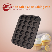 8554 Non Stick Cake Baking Pan With 24 Holes Carbon Steel Muffin Cupcake Mold