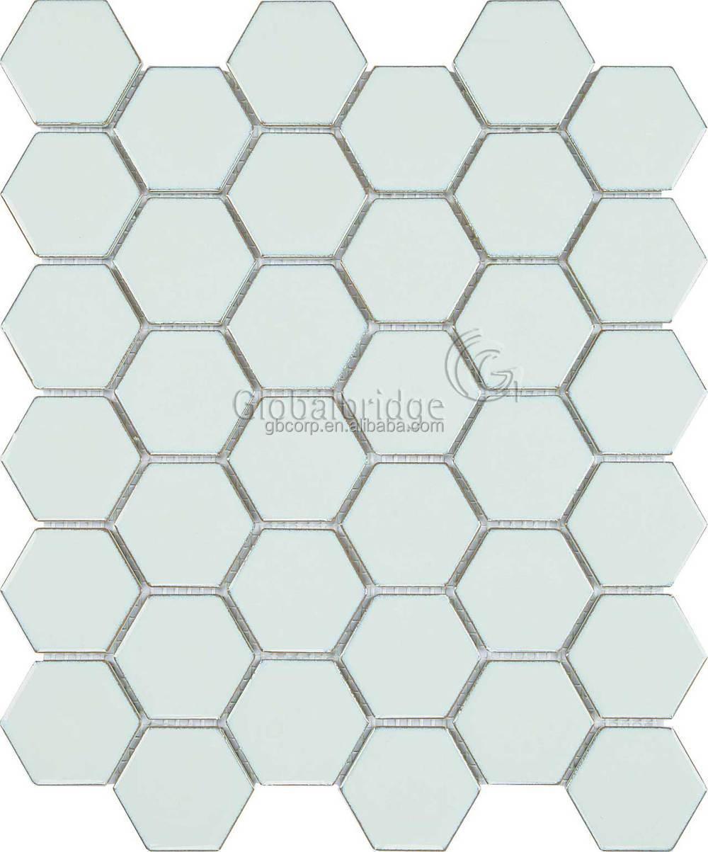 sechseck form blau und wei wand und boden dekorplatte verglasten kristall mosaik fliesen buy. Black Bedroom Furniture Sets. Home Design Ideas