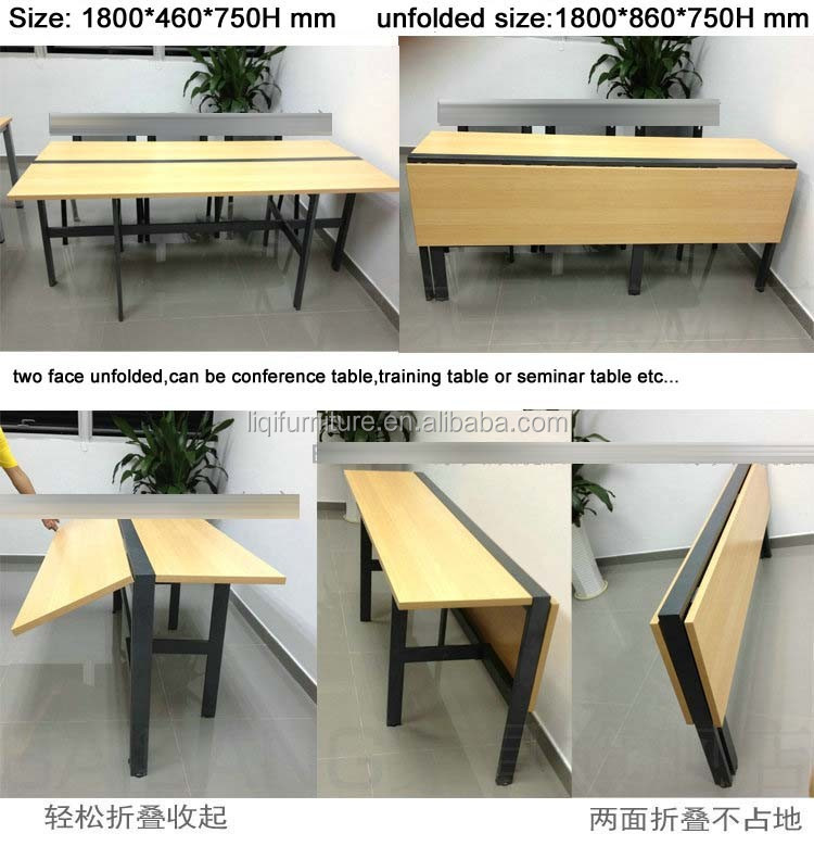 folding conference table with front panel semilar table with modesty