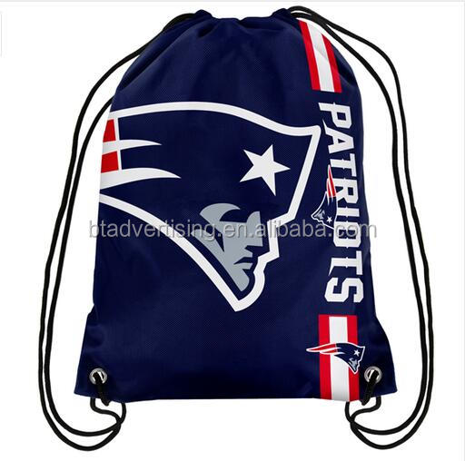 New England Patriots Cham pion Drawstring Bags Men Backpack Digital Printing Pouch Customize Bags 35*45cm Sports Fan Products