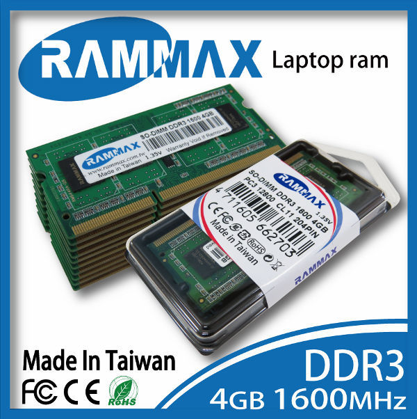 Rammax unbuffered DDR3 4GB 1600MHz pc3-12800 laptop notebook ram memory module memoria for Acer
