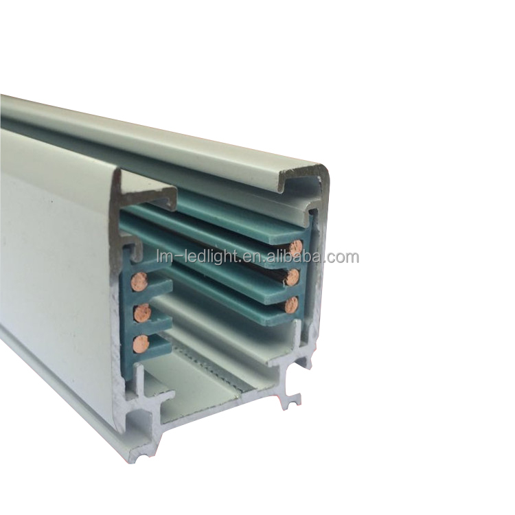 Best selling 4 wire aluminium led light track rail OEM