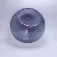 Grey glass ball lampshade round glass ceiling light covers replacement glass globe for lamp