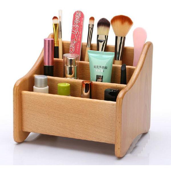 Small Bamboo / Wood Storage Box Desk Table Wooden Storage Holder Box
