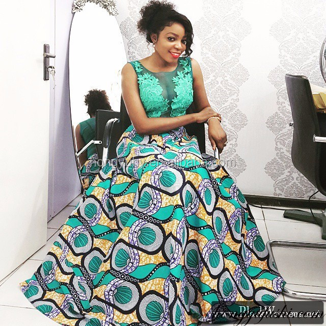 Wholesale African clothing CH180 african kitenge dresses designs sexy lace pattern sleeveless wedding dress