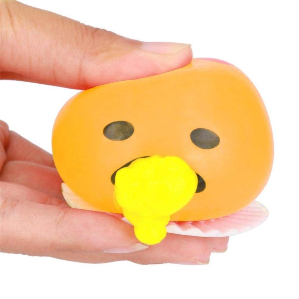 Novelty Gag Toys Spitting Yolk Egg Prank Squeeze Stress Relief Toys