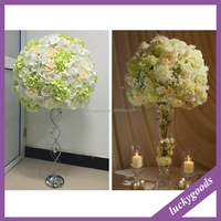 LFB314 Yiwu Luckygoods 50cm custom made table wedding flower for sale