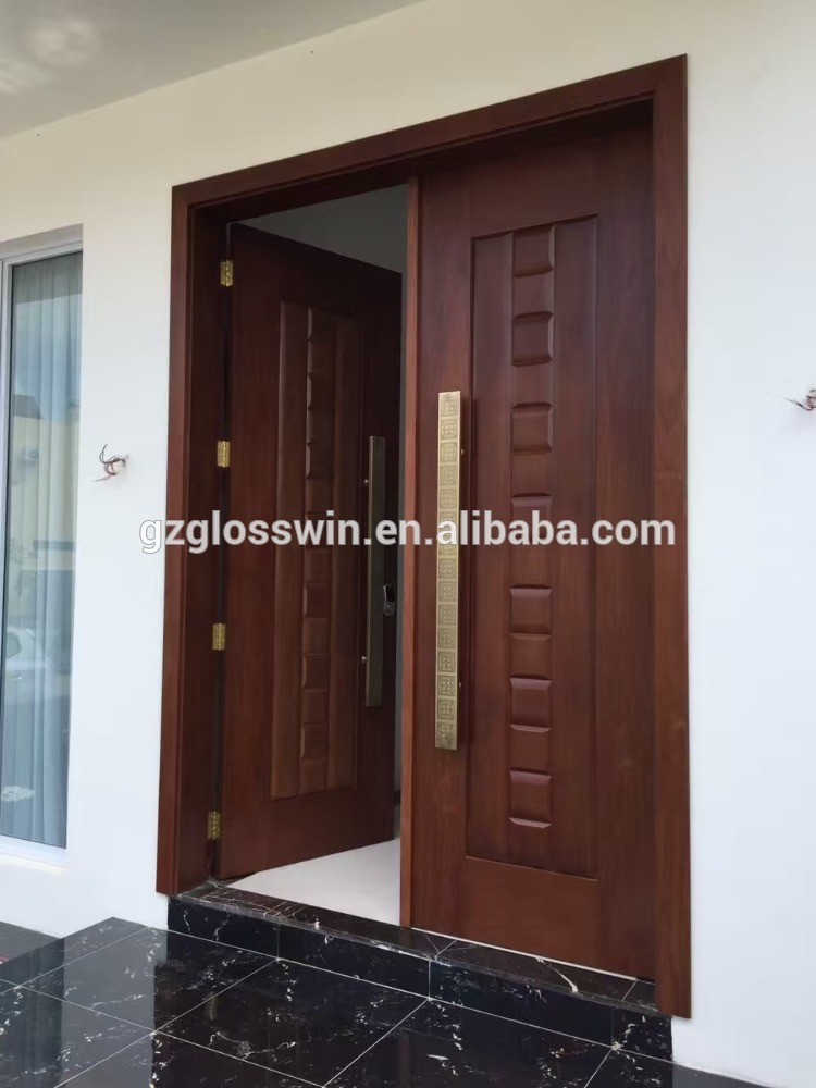Main door teak main door for Front double door designs indian houses