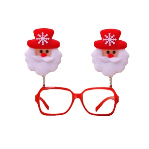 Party decoration gift items plastic novelty Christmas glasses Christmas decoration
