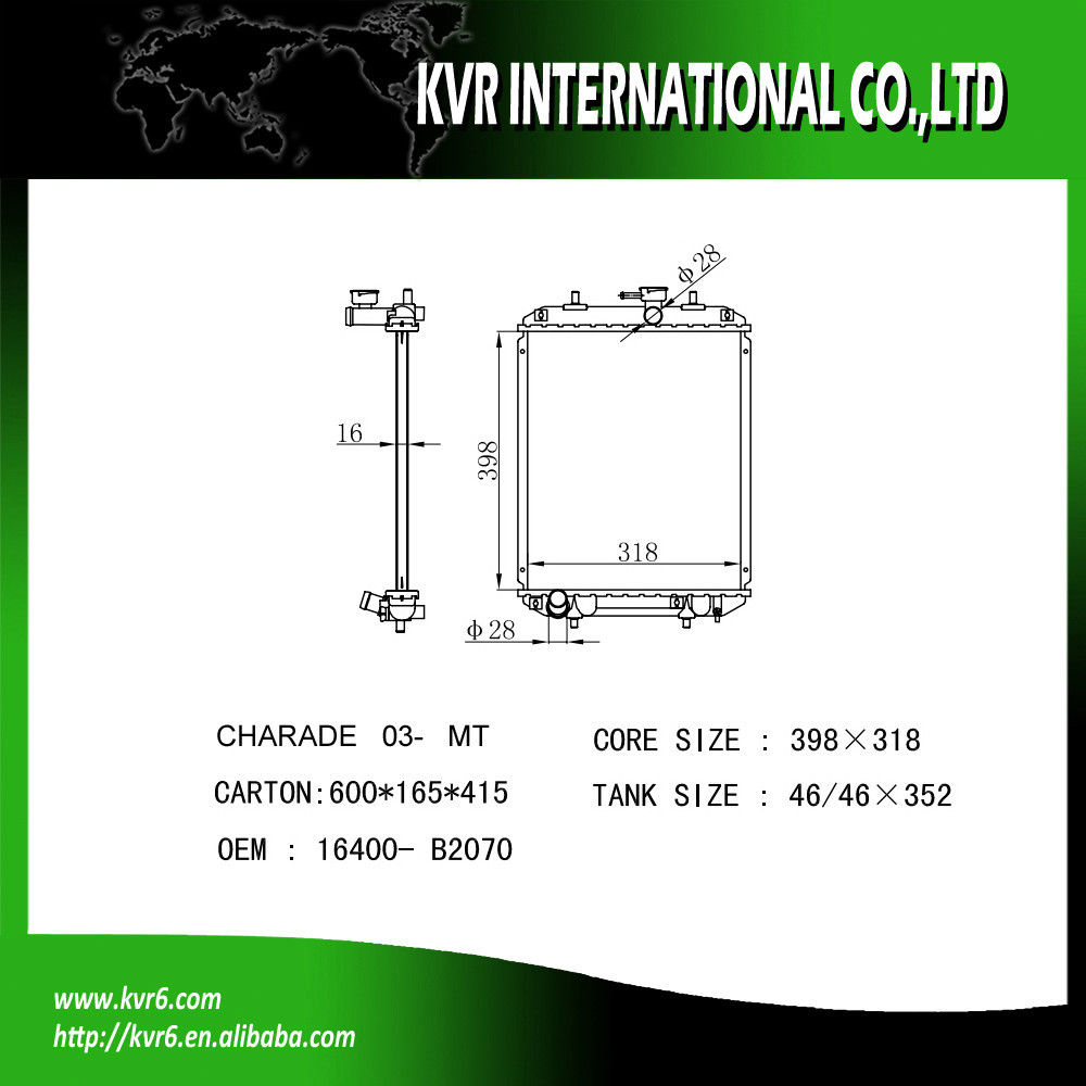 Daihatsu Charade Radiator Suppliers And Pyzar Wiring Diagram Manufacturers At