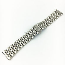 Frosted 304 Stainless Steel Watch Band Wholesale 22mm Butterfly Buckle Metal Watch Strap