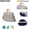 2017 Kingslong Custom Colors Linen Fabric Laptop Shoulder Handbag With PU Handle Additional Luggage Strap