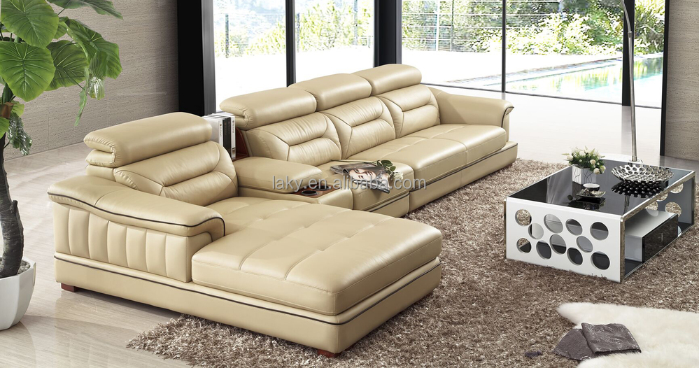 Creme Leren Bankstel.Lk T01 Discount Cream Colored Leather Sofa With Middle Cabinet