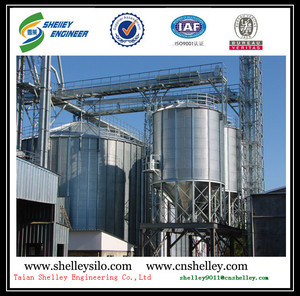 poultry feeds storage stainless steel conical hopper silo