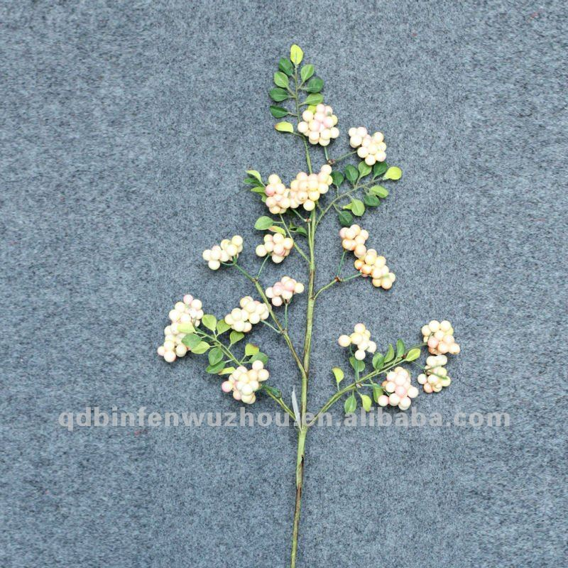 Artificial Soft Pink Mixed Berry Foliage Picks,artificial berry picks