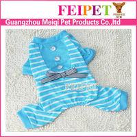 Stripe Patterns Dog Jumpsuit Cheap Teacup Dog Clothes