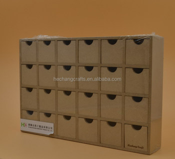Mdf Wood Christmas Advent Calendar Box