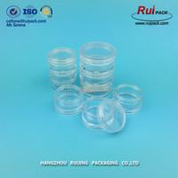 5ml multilayer transparent nail polish powder PS jar