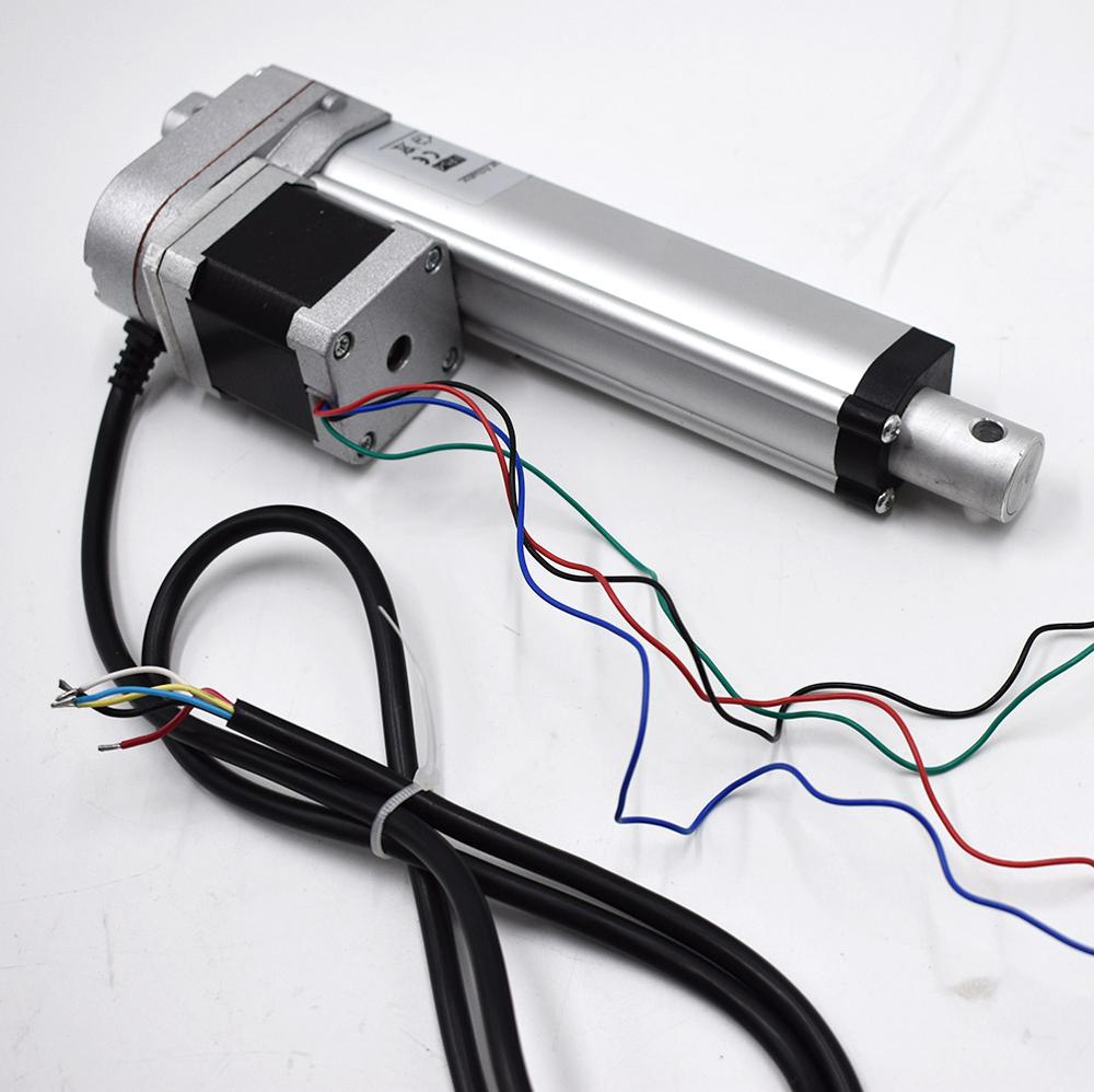 12v stepper motor electric linear actuator buy 12v for Servo motor linear actuator