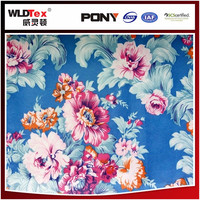 Free samples 100% polyester upholstery flower print fabric for mat