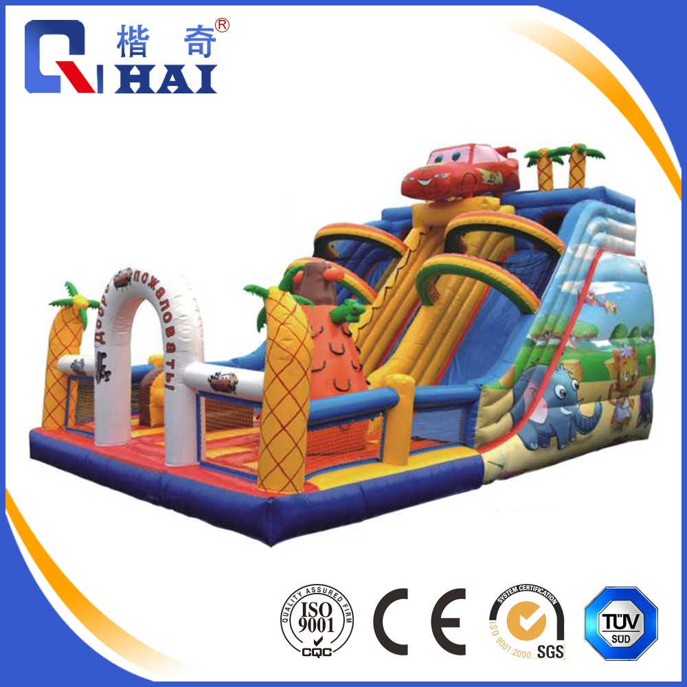 Lake / Pool <strong>Inflatable</strong> Floating fiberglass water slide tubes for sale