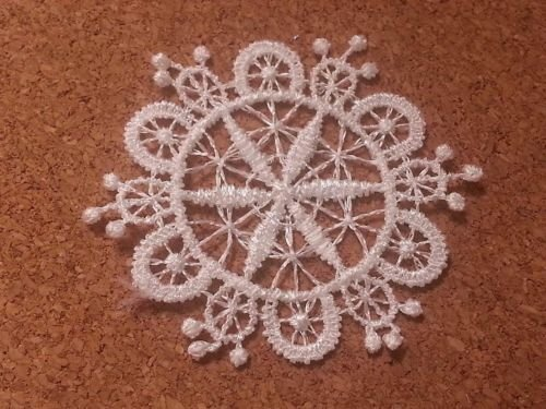 CraftbuddyUS LM3 - 10 WHITE Vintage LACE Crochet Sew On Fabric Flower Motifs, Patches GUIPURE