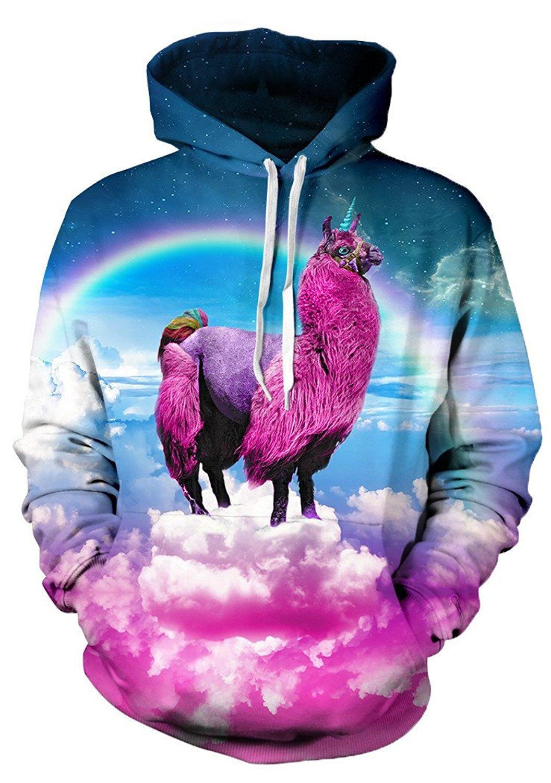 Beloved Shirts Llamacorn Hoodie - Premium All Over Print Hooded Sweatshirt