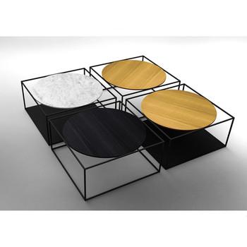 Design di moda moderno di legno rotondo piano quadrato for Ferro tubolare quadrato prezzo