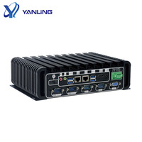 High performance X86 computer Intel i3 /i5 6th Gen processor Fanless Embedded Industrial PC with Dual Lan and display