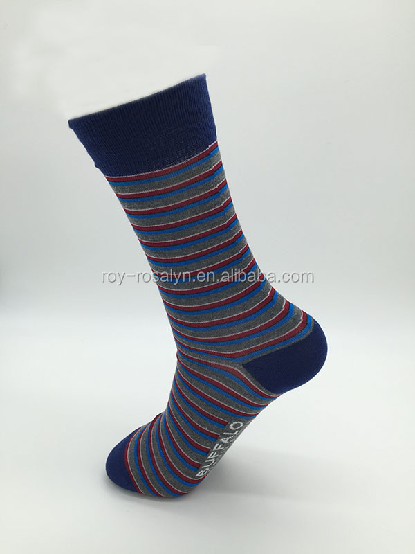 Men's custom stripe socks colored dress socks custom made socks