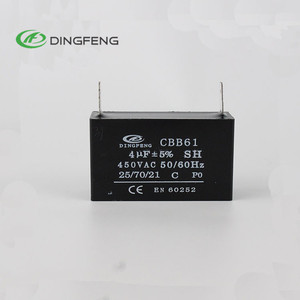 high quality cbb61 sh capacitor for ceiling fan