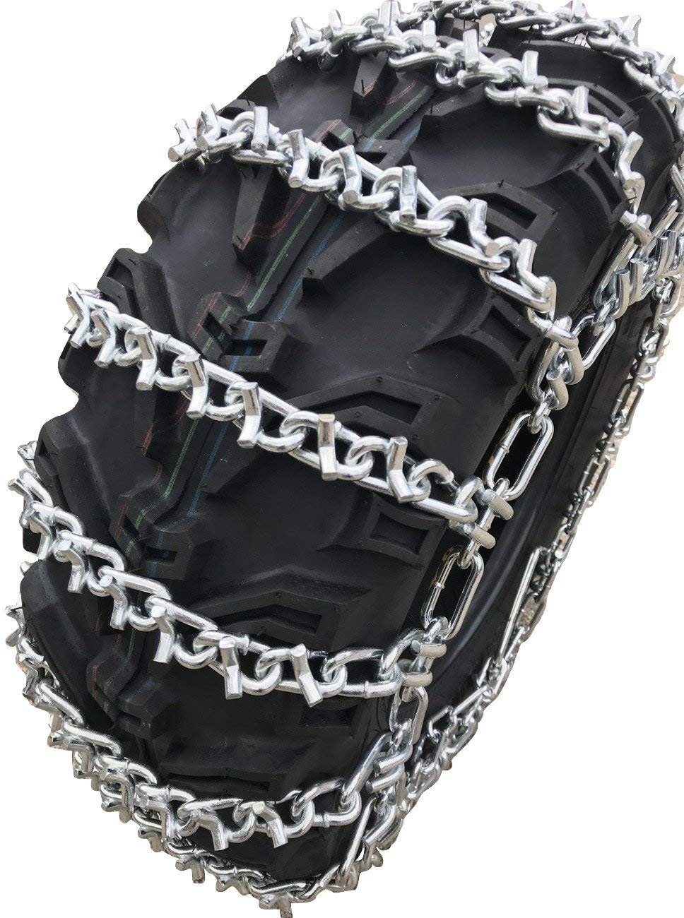 PAIR 2 Link TIRE CHAINS 18x9.5x8 fits many Honda ATC TRX ATV All-Terrain Vehicle