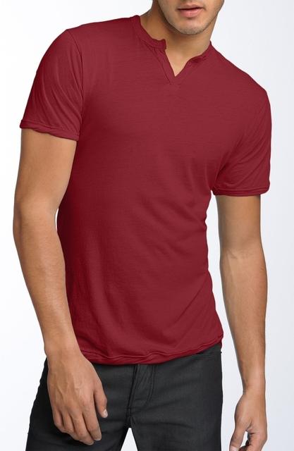 red polo v neck t shirt