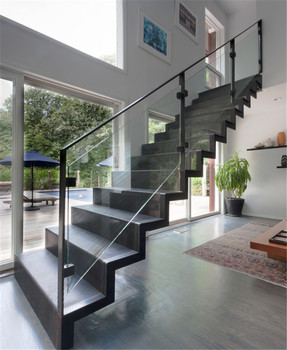 Interior Metal Stair/ Indoor Wrought Iron Straight Staircase