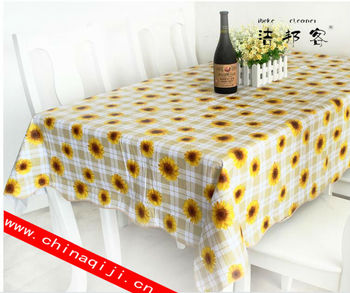 High Quality Printed Vinyl Pvc Lace Embroidery Sunflower