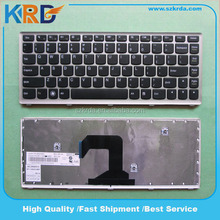 Computer keyboard notebook keyboard for Lenovo IdeaPad U410 Laptop Keyboard US black with silver frame