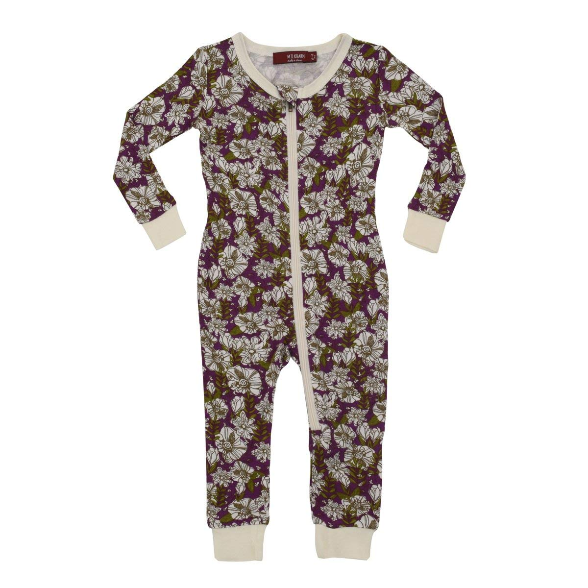3-16 yrs Zip Back Footed Pajamas for Kids Special Needs Unisex Long Seeve