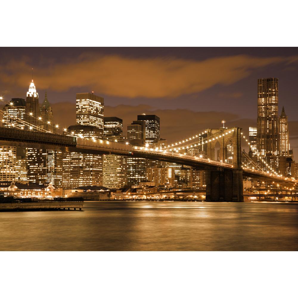 Wallpaper per pareti new york ponte di brooklyn notte paesaggio ...