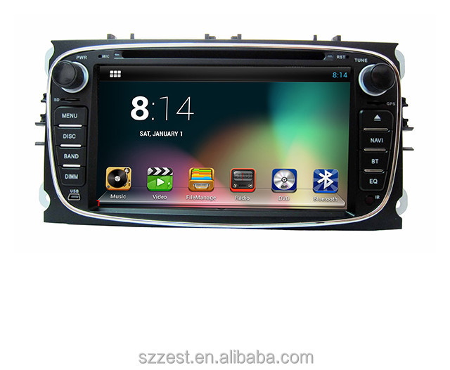 Pure android 7.1system car dvd gps navigation fit for FORD C-MAX 2009 - 2011 Car Radio with WIFI DVR OBD2 SUPPORT