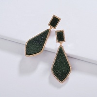 LUNA CHIAO 2019 Fashion Jewelry New York Designer resin Druzy Quartz Stone Metal Statement Earrings Women