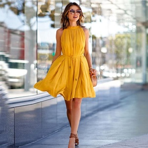 Factory Outlet 2019 New Arrivals Fashion Office Pockets Casual Women Dresses