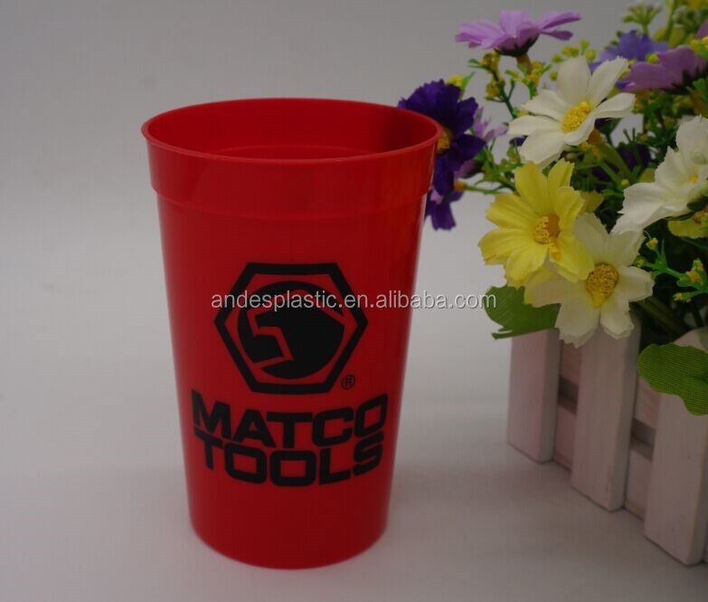 Hot sell insulated 14oz plastic stadium cup with logo