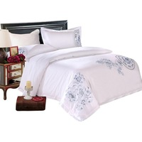 Luxury embroidered cotton bedding sets for hotel and home used with competitive price