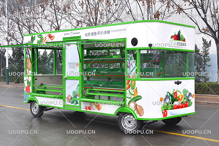 Mobile Fruit Cart Street Vegetable And Fruits Vending