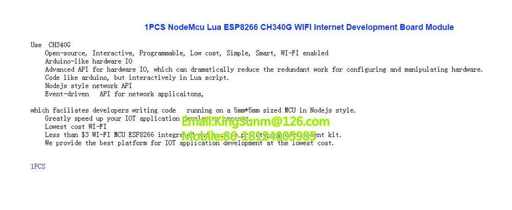 1  Nodemcu Lua Esp8266 Ch340g Wifi Internet Development Board Module - Buy  Module,Ic Led Dip,Diy Product on Alibaba com