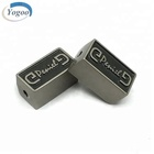 Alloy Beads Metal New Design European Embossed Alloy Custom Metal Logo Beads Charms For Bracelet
