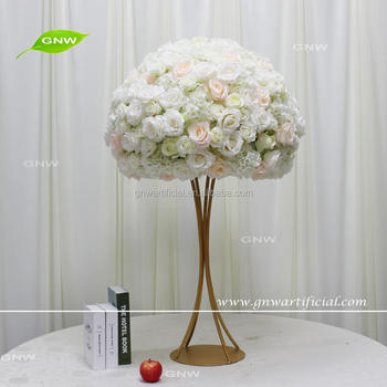 GNW CTRA 1705021 New Design Artificial Floral Stand Metal Table Centerpiece