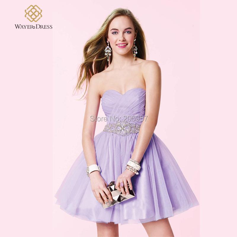Lilac Short Homecoming Dresses