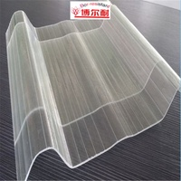 BONAI FRP Clear Corrugated Fiberglass Roof Panels transparent plastic sheets